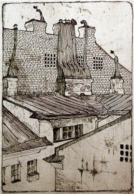 Добужинский М.В. Крыши домов. 1901. ГРМ